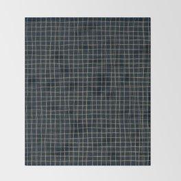 Threads of gold on dark blue Throw Blanket