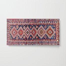 Kuba Antique East Caucasus Carpet Print Metal Print