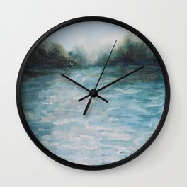 Watercolour Riverscape Wall Clock