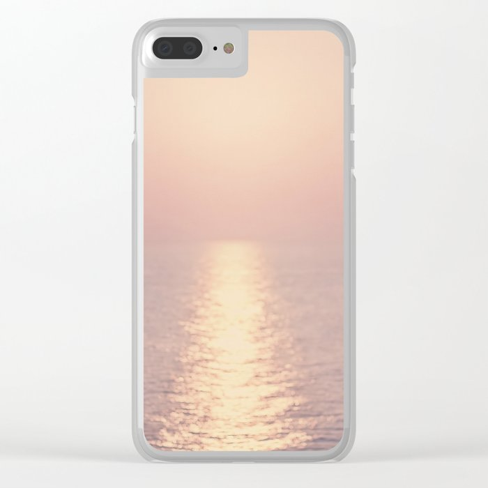 cashmere rose sunset Clear iPhone Case