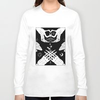moth Long Sleeve T-shirts featuring Moth by Nick Iluzada
