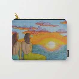 Mermaid Sunset Carry-All Pouch