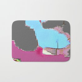 Abstract #13 in Pink Bath Mat