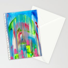 4 Penny the Pink Elephant Stationery Cards