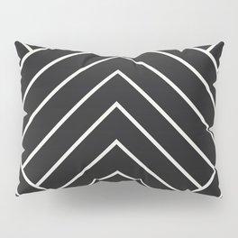 Diamond Series Pyramid White on Charcoal Pillow Sham
