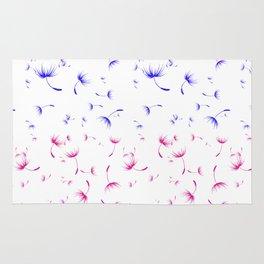 Dandelion Seeds Bisexual Pride (white background) Rug