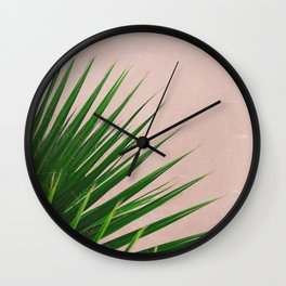 Summer Time | Palm Leaves Photo Wall Clock