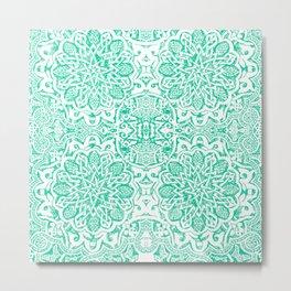 Moorish -Aqua Metal Print