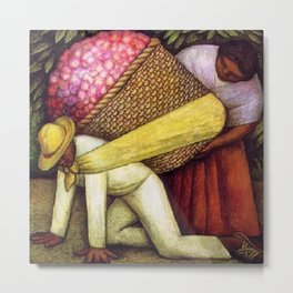 The Flower Carrier (Cargador de Flores) by Diego Rivera Metal Print