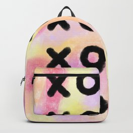 Lots of Love XOXO - Pink Modern Typography Backpack