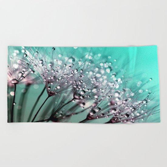 Dandelion Blue Diamonds Beach Towel