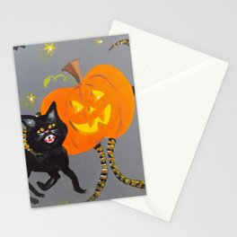 Jack and Black Cat Stationery Cards