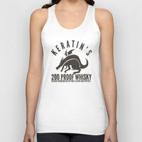 whisky Tank Tops featuring Keratin's Dragon Distilled Whisky by critjuice