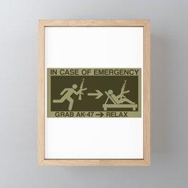 Emergency Prepper Gift Survivalist SHTF AK-47 Gift Framed Mini Art Print