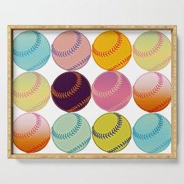 Pop Art Baseballs Serving Tray