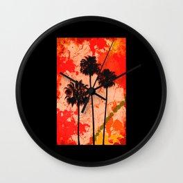 Palm Tree Paint Wall Clock