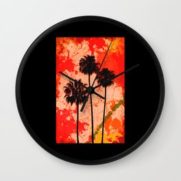 Palm Tree Paint Wall Clock