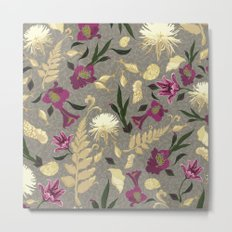 Flowers & Sea Shells Metal Print