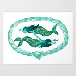 it's always ourselves we find in the sea Art Print