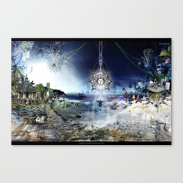 The City of Pyramids in the Night of Pan Canvas Print
