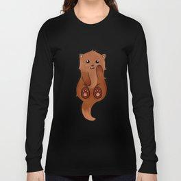 Kawaii Sea Otter Long Sleeve T-shirt