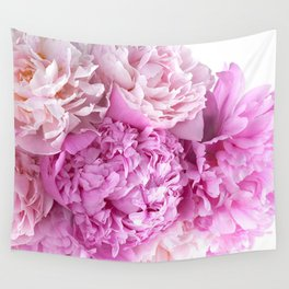 Pink Peonies Shabby Chic Cottage Peonies Wall Tapestry