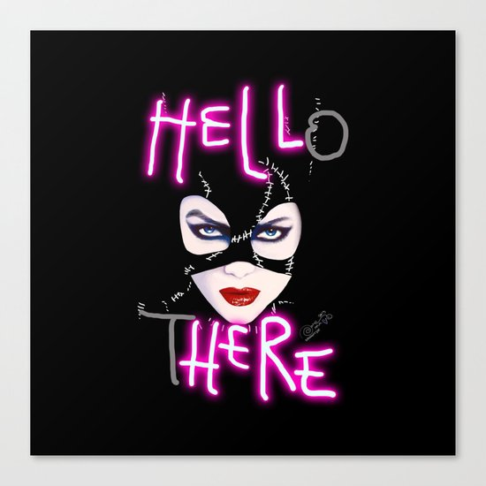 Hell Here! Catwoman Canvas Print