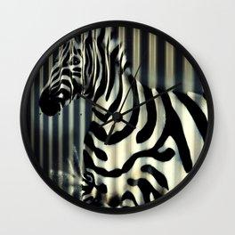 Street Zebra Wall Clock