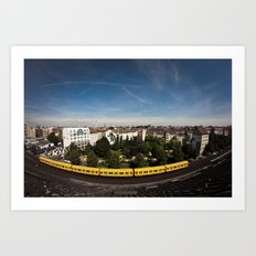 Berlin Subway U1 Art Print