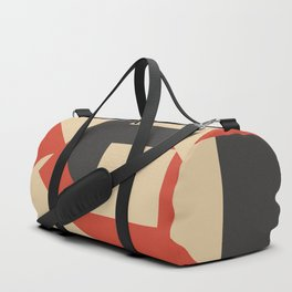 Geometrical abstract art deco mash-up Duffle Bag