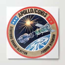 Apollo Soyuz Test Project (ASTP) Metal Print