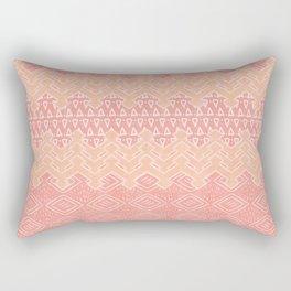 Akra in Coral Rectangular Pillow