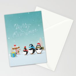 Christmas Penguins Stationery Cards