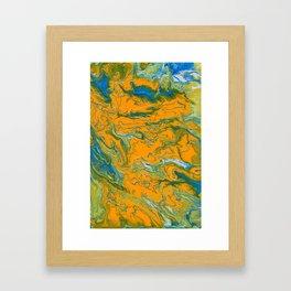 Topographie concepteur 1 portrait version Framed Art Print