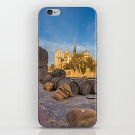 Docks of Notre dame de Paris iPhone Skin