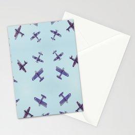 Toys#plane#1942#blue Stationery Cards