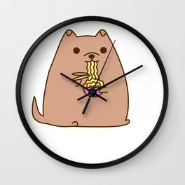 Pupsheen Eating Ramen Wall Clock