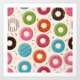 Colorful Donut Design Art Print