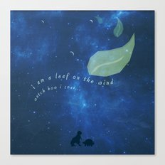 leaf on the wind Canvas Print