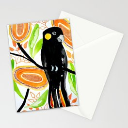 Yellow Tailed Black Cockatoo Stationery Cards