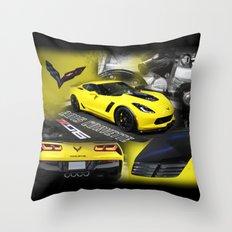 2015 Corvette ZO6 Throw Pillow