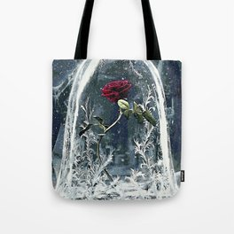 Beauty and the Beast Rose Tote Bag