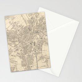Vintage Map of Bradford England (1851) Stationery Cards