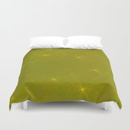 Fireflies and Filaments Duvet Cover