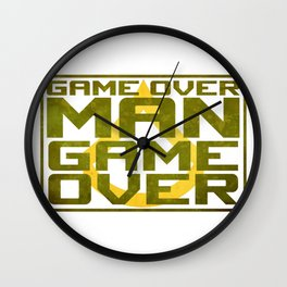 Game Over Man Wall Clock