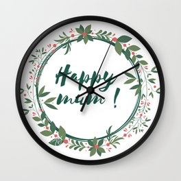 Happy Mum Wall Clock
