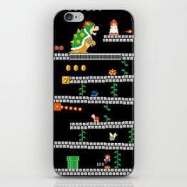 Super Mario x Donkey Kong level mockup iPhone Skin