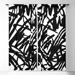 Bold scribble pattern Blackout Curtain