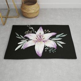 Lilium black Rug