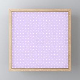 Mini White Love Hearts on Pale Lilac Pastel Framed Mini Art Print
